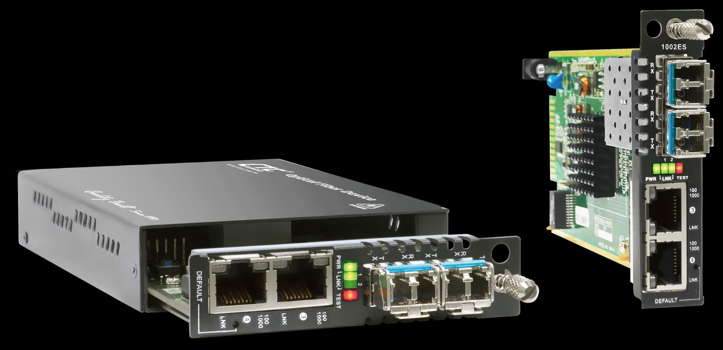 Card 2x 10/100/1000-T + 2x100/1000-X SFP GE switch   CTC UNION   FRM220A-1002ES