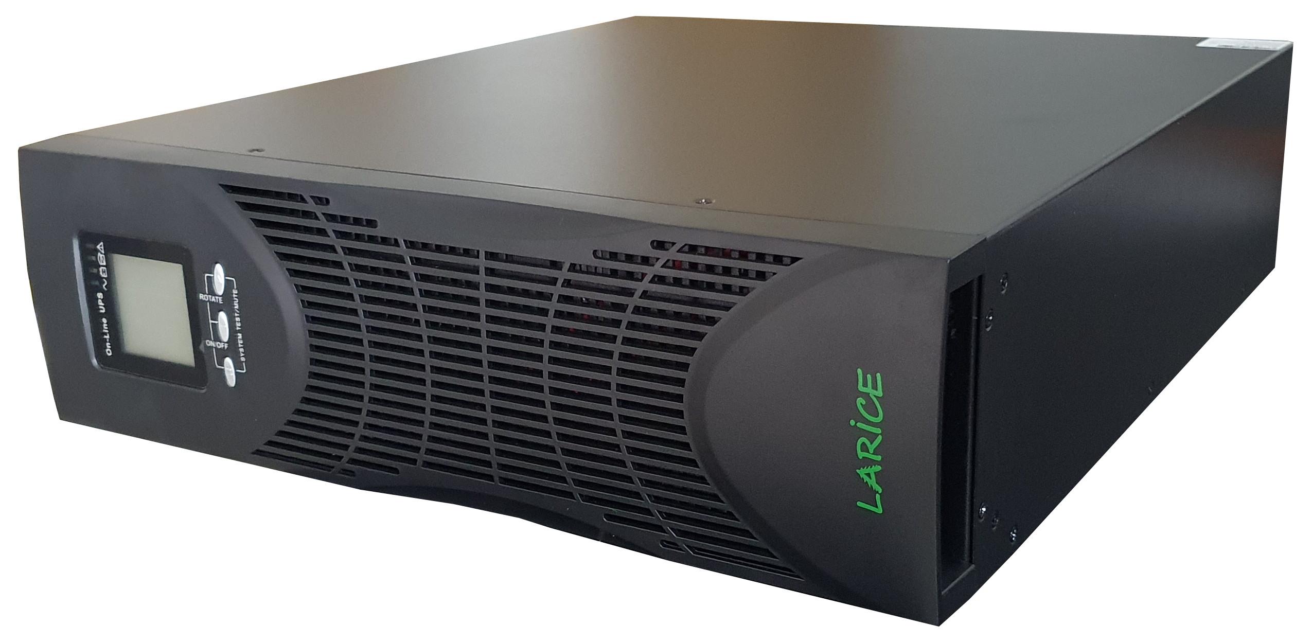 UPS LARICE Online Rack/tower 3000VA/2700W, 6 x 9Ah, 3U 6 IEC | LARICE | MP S RT2 3KVA SV