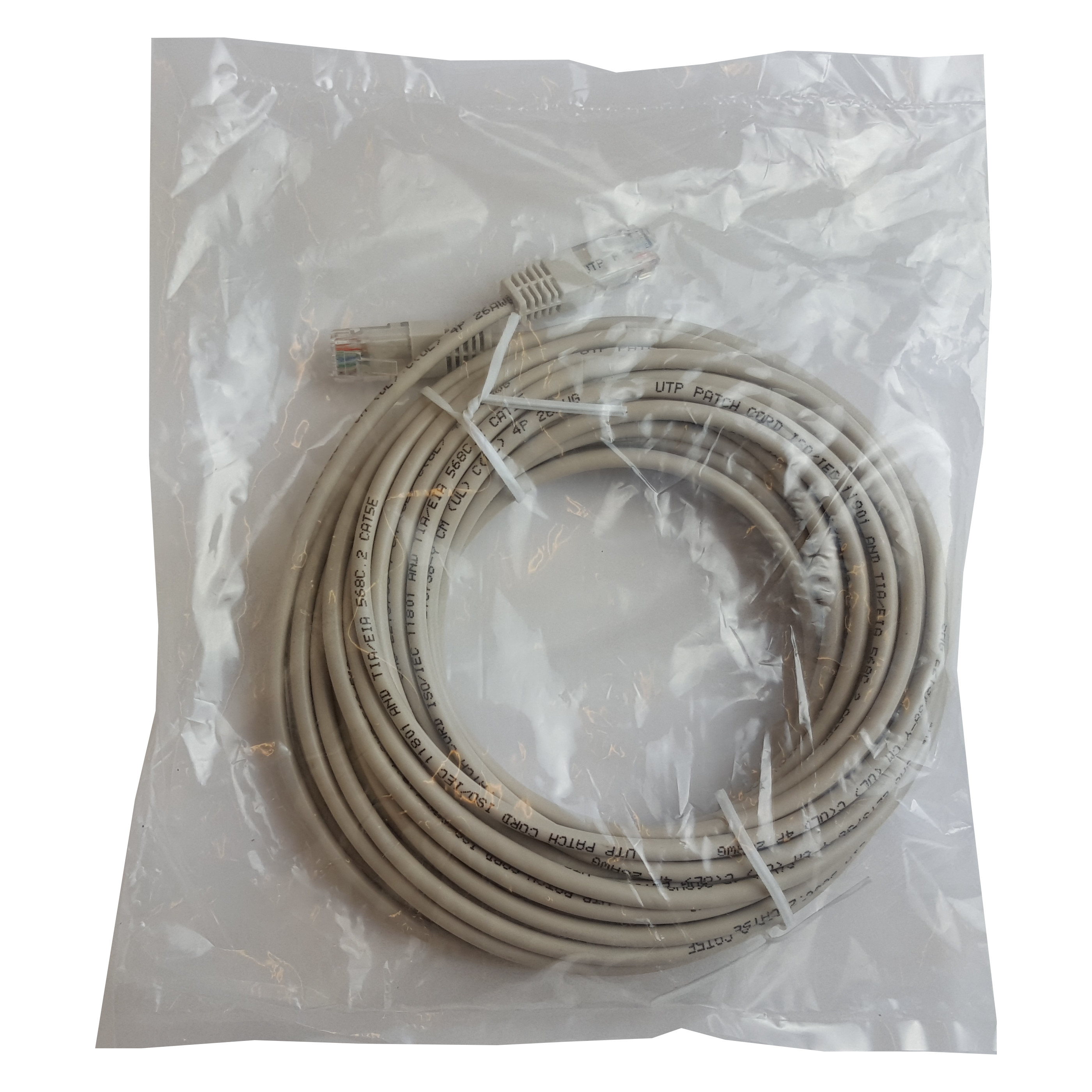 Patch cord UTP CAT5E 10m AWG 26, Cu | NINGBO SHUNSHENG | PATCH10M-UTP