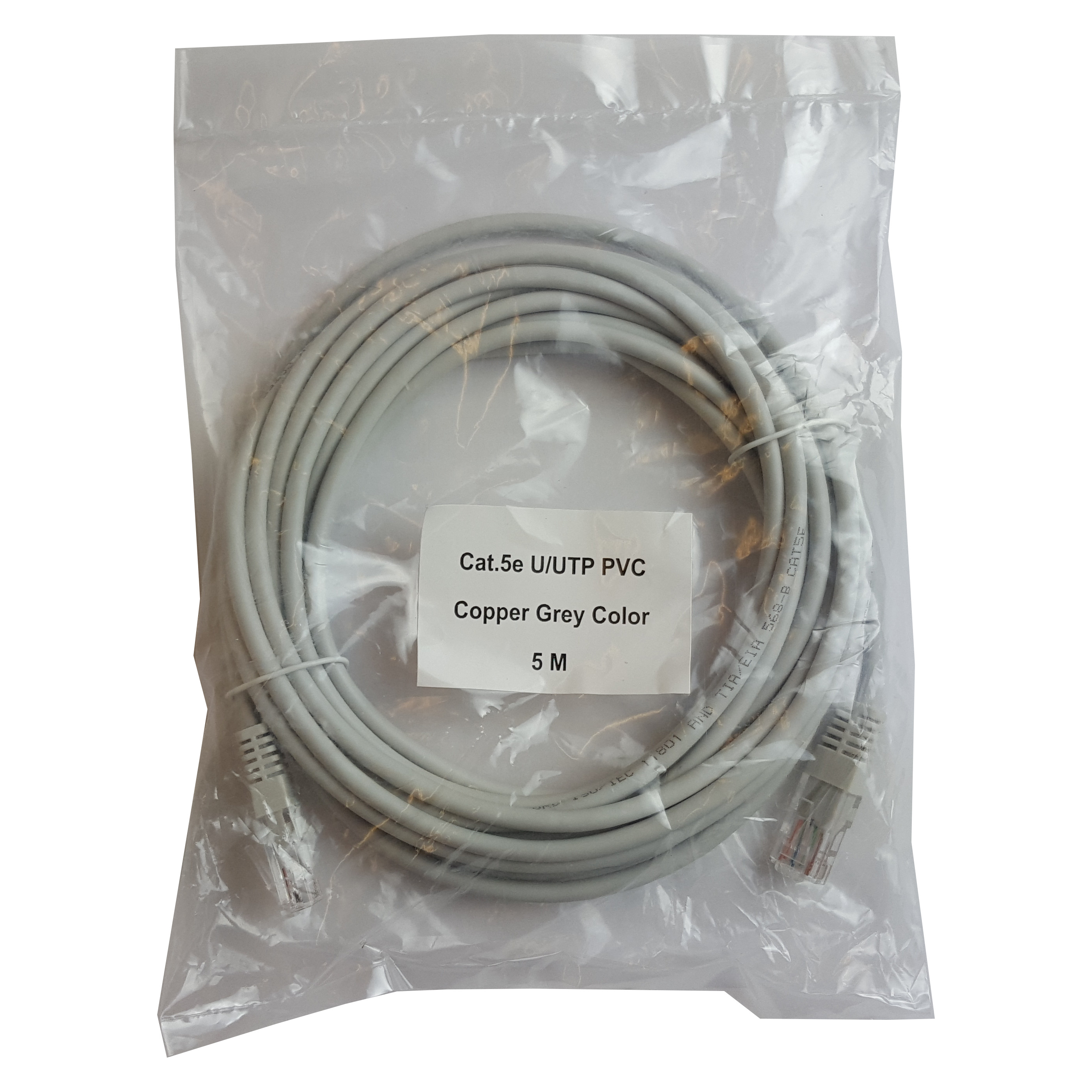 Patch cord UTP CAT5E 5m AWG 26, Cu | NINGBO SHUNSHENG | PATCH5M-UTP