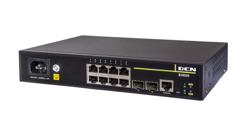 L2 Gigabit 8 x 10/100/1000Base-T + 2 x 100/1000 SFP | DCN | S4600-10P-SI
