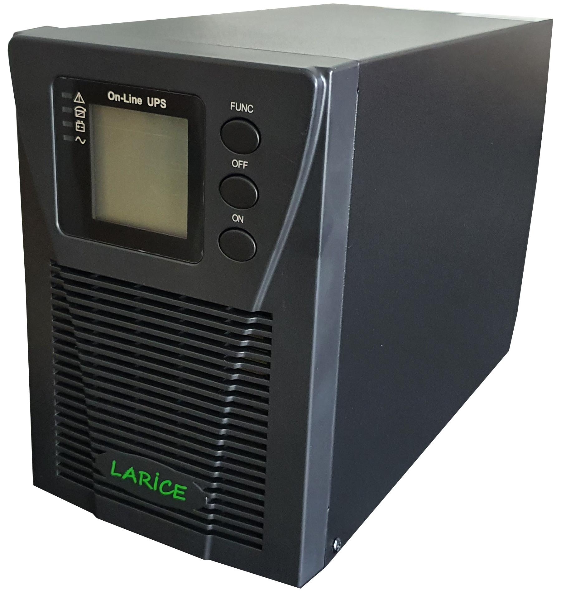 UPS LARICE Online Tower 1000VA/1000W, 2 x 9Ah   2 x Schuko | LARICE | UDC9101S One