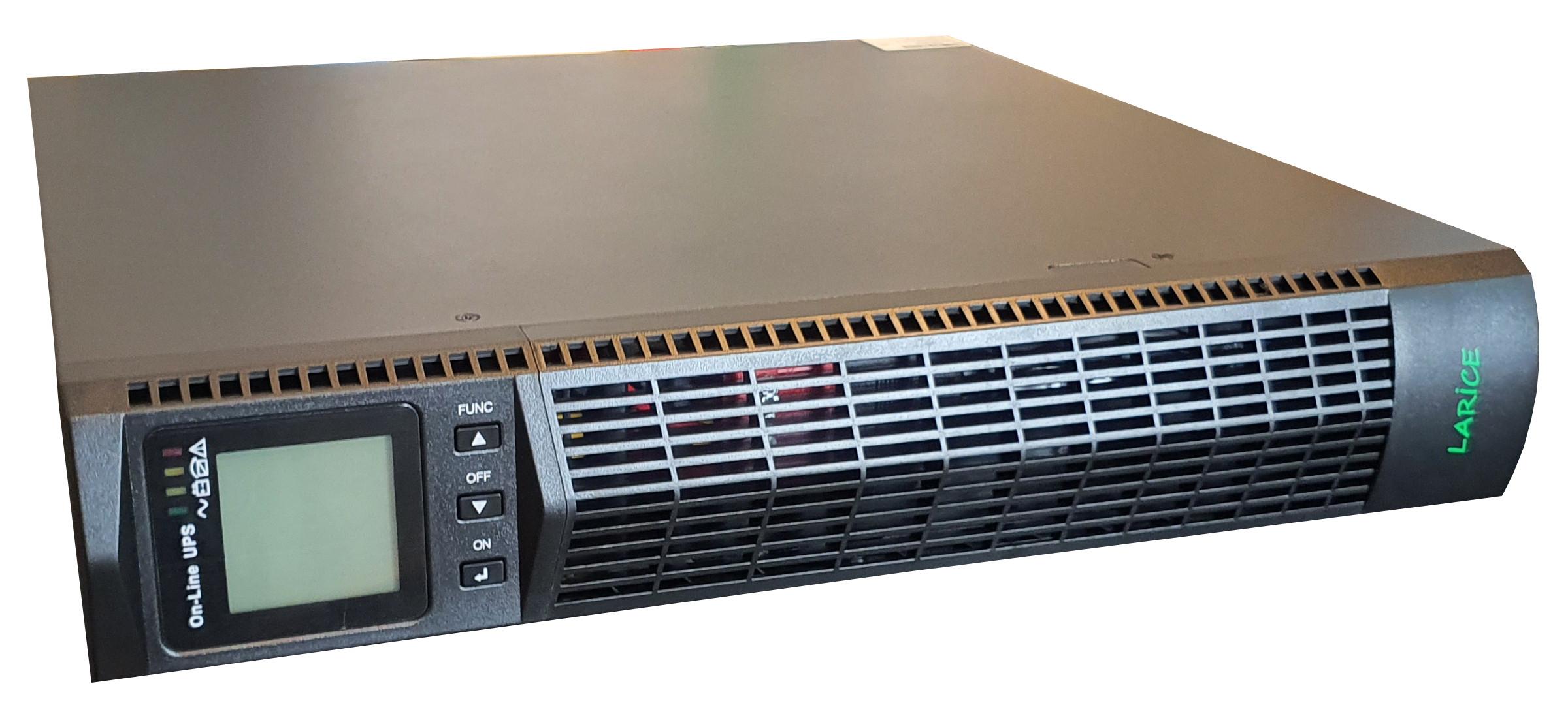 UPS LARICE Online Rack/tower 2000VA/2000W, 4 x 9Ah, 8 x IEC | LARICE | UDC9102S-RT One