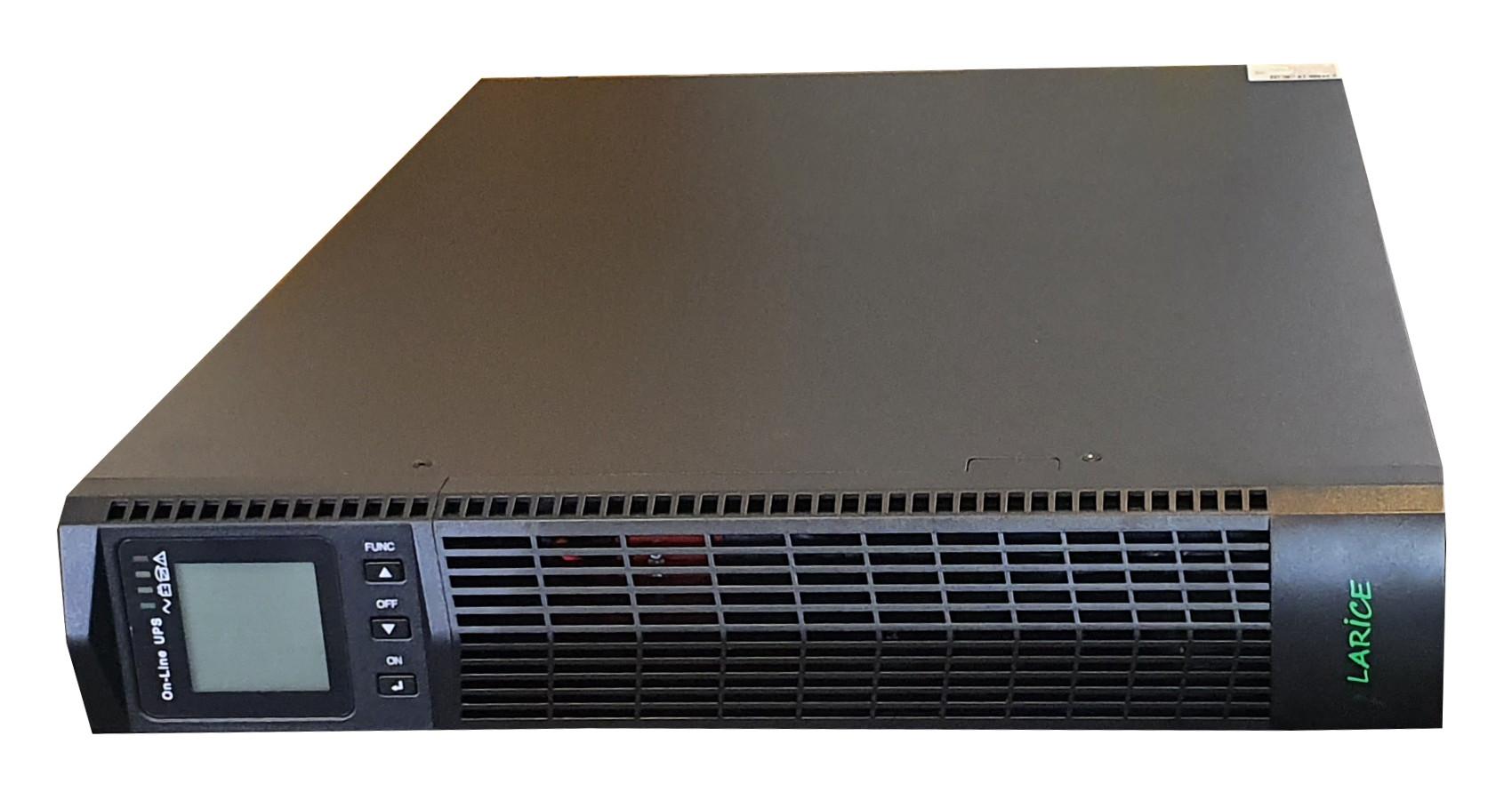 UPS LARICE Online Rack/tower 3000VA/3000W, 6 x 9Ah,8 x IEC13 | LARICE | UDC9103S-RT One