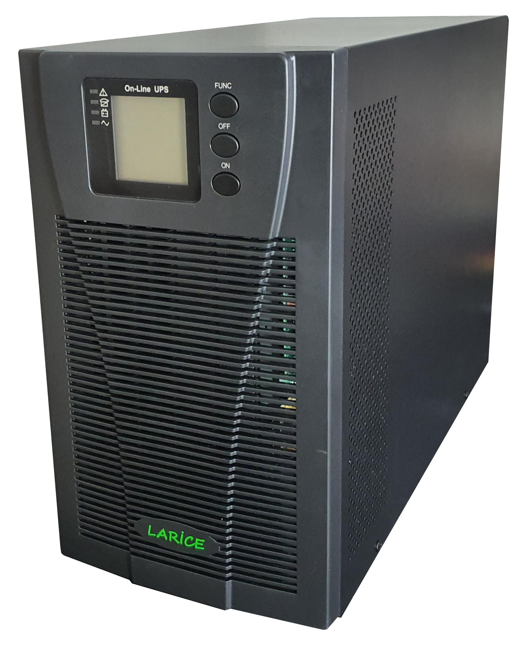 UPS LARICE Online Tower 3000VA/3000W, 6 x 9Ah  3 x Schuko | LARICE | UDC9103S One