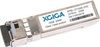 10G WDM SFP+ TX1330/RX1270nm 20km, DDM, LC | XGIGA | XPBL-332796-20D