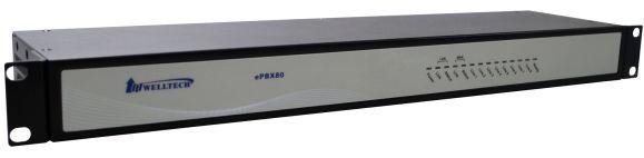IPPBX cu 8FXO, 60 cont SIP, 10 apeluri concurente | WELLTECH | ePBX80