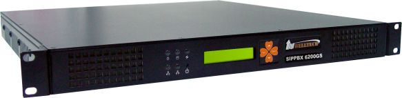 IPPBX cu 50 de conturi SIP, 25 concurente, fax | WELLTECH |  SIPPBX6200GS-50